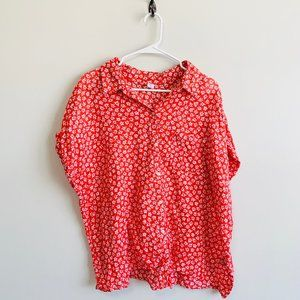 3/$25 SALE Old Navy Tie Front Button Up Floral Top
